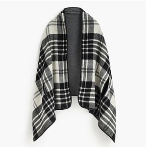 J.Crew Plaid Blanket Scarf Cape